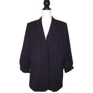 NWT Michael Kors Ruched Sleeve Blazer 14 Gathered